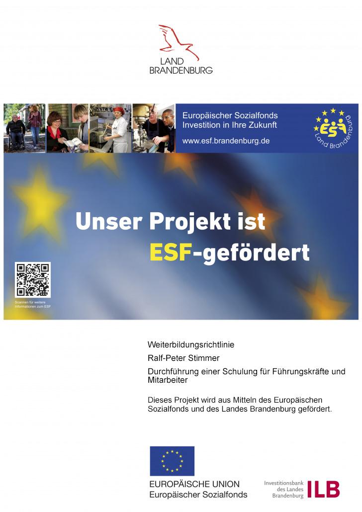 ESF Förderung Ralf-Peter Stimmer